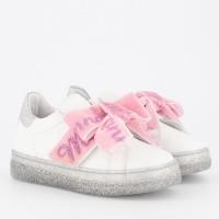 Afbeelding van MonnaLisa 8C4008 kindersneakers licht roze/wit