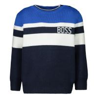 Afbeelding van Boss J05813 baby trui cobalt blauw
