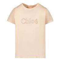 Afbeelding van Chloé C05365 baby t-shirt zalm