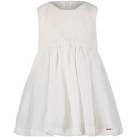 Picture of Liu Jo H68017 baby dress off white
