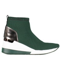 Afbeelding van Michael Kors 43R9SKFE1D dames sneakers donker groen