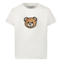 Afbeelding van Moschino MUM02I baby t-shirt wit