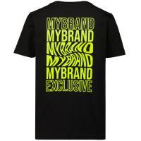 Afbeelding van My Brand 3X21001C0002 kinder t-shirt zwart