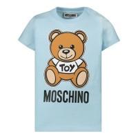 Afbeelding van Moschino MOM01N baby t-shirt licht blauw