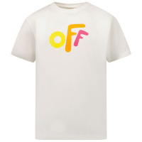 Afbeelding van Off-White OGAA001F21JER0020184 kinder t-shirt wit