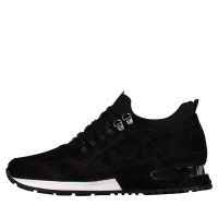 Picture of Mallet TE1018 SUEDE mens sneakers black