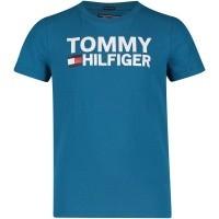 Afbeelding van Tommy Hilfiger KB0KB04078 kinder t-shirt cobalt blauw