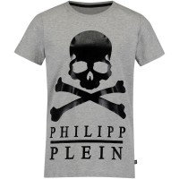 Afbeelding van Philipp Plein BTK0363 kinder t-shirt grijs