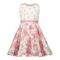 Afbeelding van MonnaLisa 317916 babyjurkje off white/roze