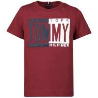 Afbeelding van Tommy Hilfiger KB0KB04994B baby t-shirt bordeaux