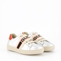 Afbeelding van Gucci 553053 kindersneakers zilver