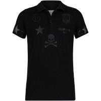 Picture of Philipp Plein BTK0616 kids polo shirt black