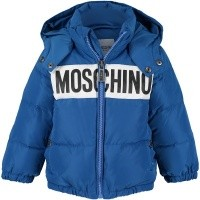 Picture of Moschino MWS015 baby coat cobalt blue