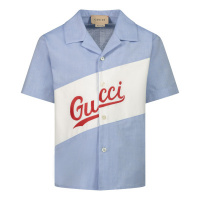 Afbeelding van Gucci 645032 baby blouse licht blauw