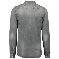 Afbeelding van Pure White 19030201 heren overhemd licht grijs