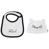 Afbeelding van Karl Lagerfeld Z98031 baby muts+slab wit