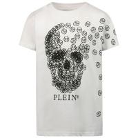 Afbeelding van Philipp Plein BTK1086 kinder t-shirt wit