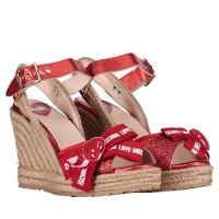 Afbeelding van Moschino JA1631 dames sandalen rood