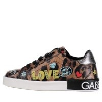 Afbeelding van Dolce & Gabbana D10656 AV686 kindersneakers panter