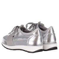 Afbeelding van Coccinelle 6327 kindersneakers zilver