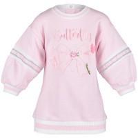 Afbeelding van MonnaLisa 393915R8 babyjurkje licht roze
