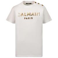 Afbeelding van Balmain 6P8641 kinder t-shirt wit