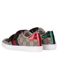 Afbeelding van Gucci 463090 9C220 kindersneakers bruin