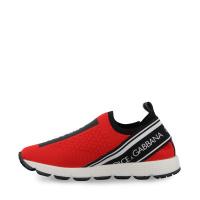 Afbeelding van Dolce & Gabbana D10723 AH677 kindersneakers rood/zwart