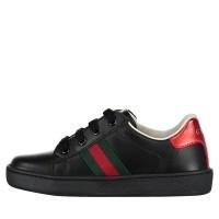 Afbeelding van Gucci 433146 CPWE0 kindersneakers zwart