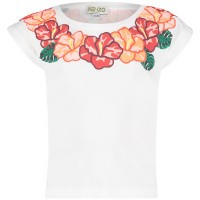 Picture of Kenzo KN10048BB baby shirt white