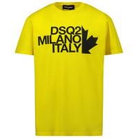 Afbeelding van Dsquared2 DQ0493 kinder t-shirt geel