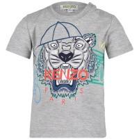 Afbeelding van Kenzo KN10698BB baby t-shirt licht grijs