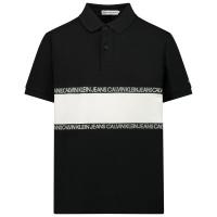 Afbeelding van Calvin Klein IB0IB00734 kinder polo zwart