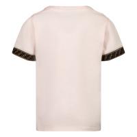 Afbeelding van Fendi BFI117 ST8 baby t-shirt licht roze