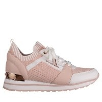 Afbeelding van Michael Kors 43T8BIFS1D dames sneakers licht roze