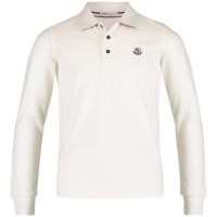 Afbeelding van Moncler 8310850 kinder polo off white