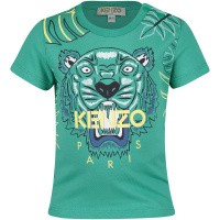 Picture of Kenzo KN10678BB baby shirt green