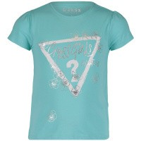 Picture of Guess K92I12 kids t-shirt turquoise