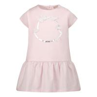 Afbeelding van Moncler 8!72410 babyjurkje licht roze
