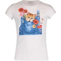 Afbeelding van MonnaLisa 113630PD kinder t-shirt wit