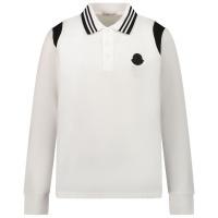 Afbeelding van Moncler 8B71220 kinder polo off white