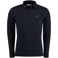 Picture of Pure White POLO LS mens polo shirt navy