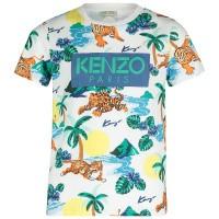 Afbeelding van Kenzo KN10598 kinder t-shirt wit