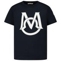 Afbeelding van Moncler 8C74220 kinder t-shirt navy