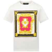 Afbeelding van Versace 1000052 1A01419 kinder t-shirt wit/roze