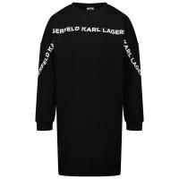 Afbeelding van Karl Lagerfeld Z12187 kinderjurk zwart