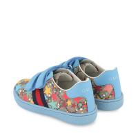 Afbeelding van Gucci 463088 2R610 kindersneakers licht blauw/beige