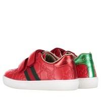 Afbeelding van Gucci 455447 DF720 kindersneakers rood