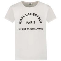 Afbeelding van Karl Lagerfeld Z15T59 kinder t-shirt wit