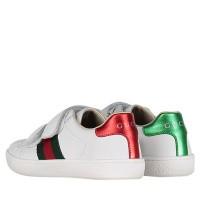 Afbeelding van Gucci 455448 CPWP0 kindersneakers wit